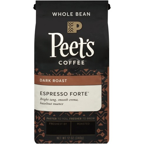 Peet's Espresso Forte Dark Roast Whole Bean Coffee - 12oz - image 1 of 3