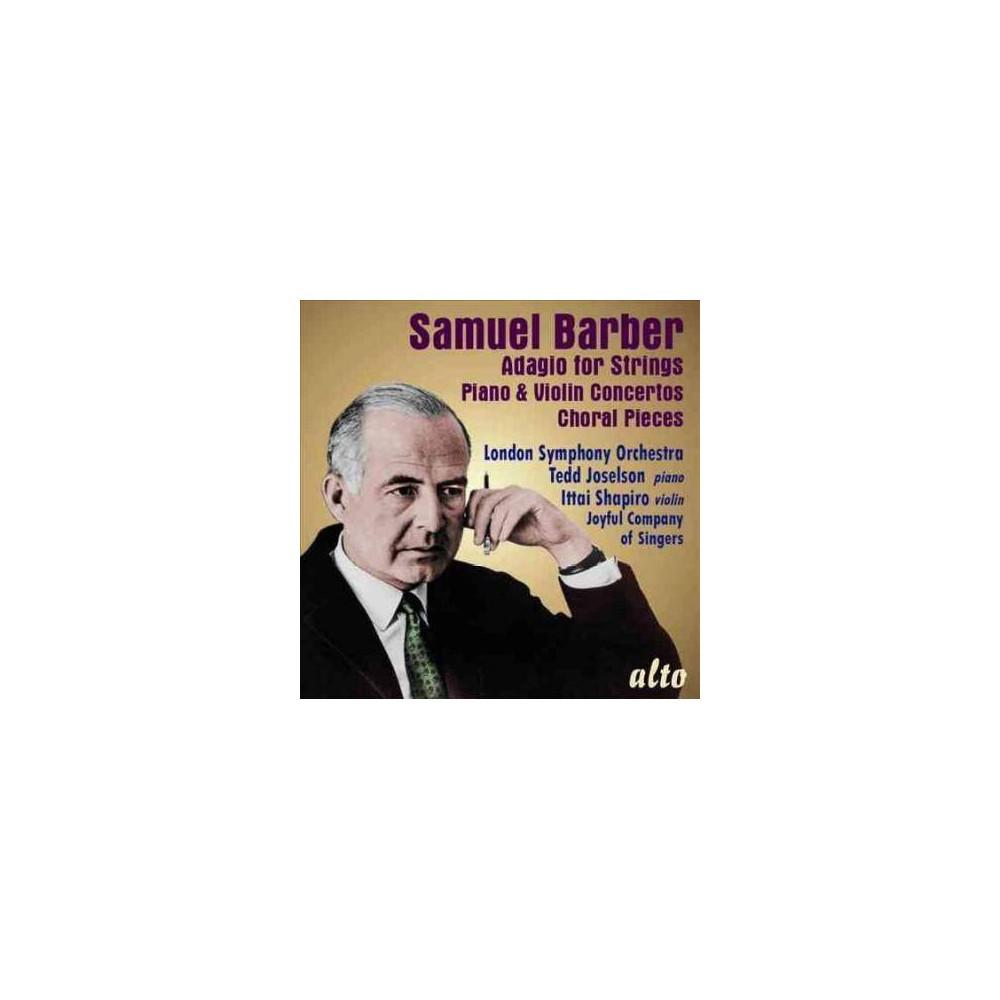 London Symphony Orchestra Barber Adagio For Strings Piano Violin Concerto Cd