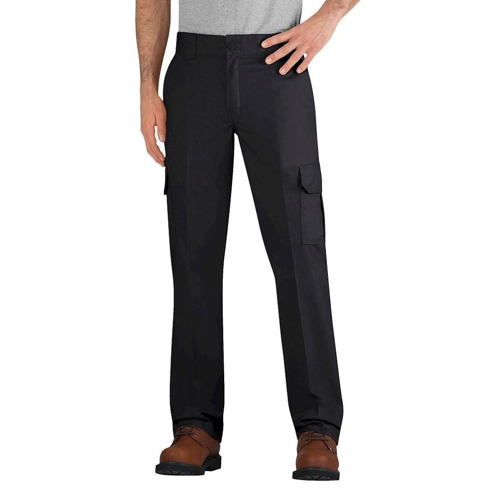Dickies Men's Slim Straight Fit Flex Twill Cargo Pants- Black 34X32