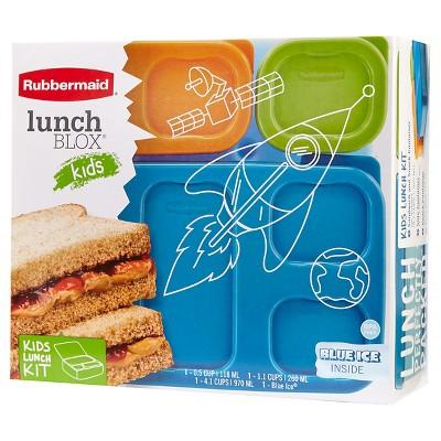 Rubbermaid LunchBlox Kids Flat Lunch Kit Blue