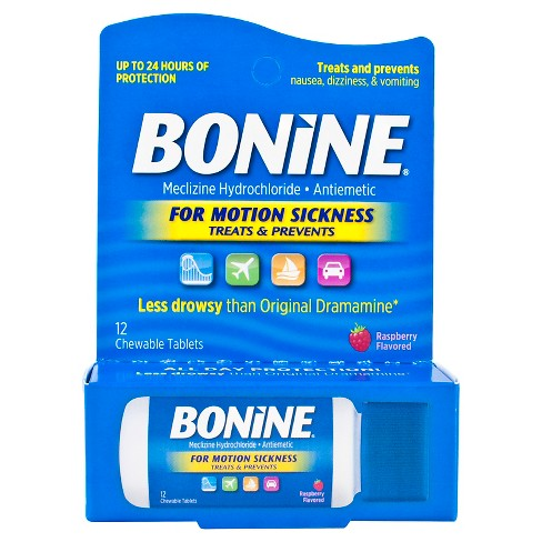 Bonine Motion Sickness Chewable Tablets - 12ct - image 1 of 4