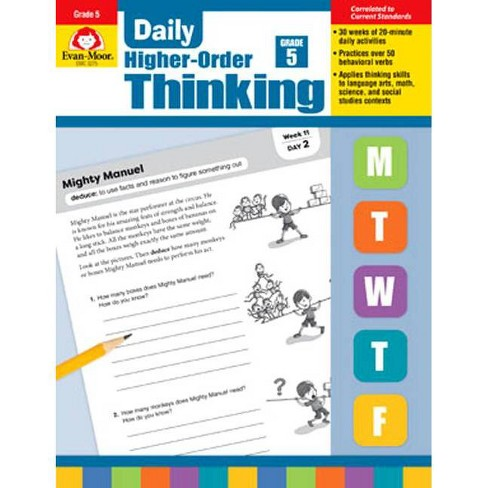 Daily Higher-Order Thinking, Grade 5 - (Paperback) - image 1 of 1