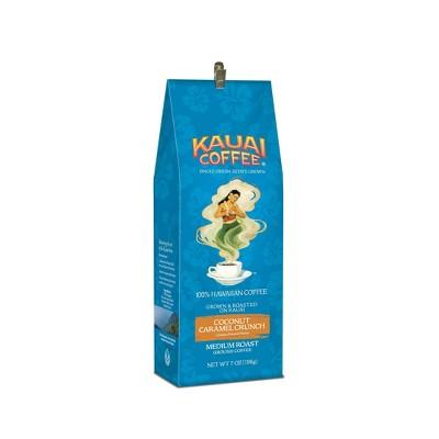 Kauai Coffee Coconut Caramel Crunch Medium Roast Ground Coffee - 7oz