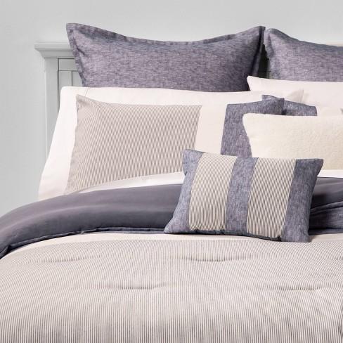 Alden Stripe 8pc Bed Set Blue Target