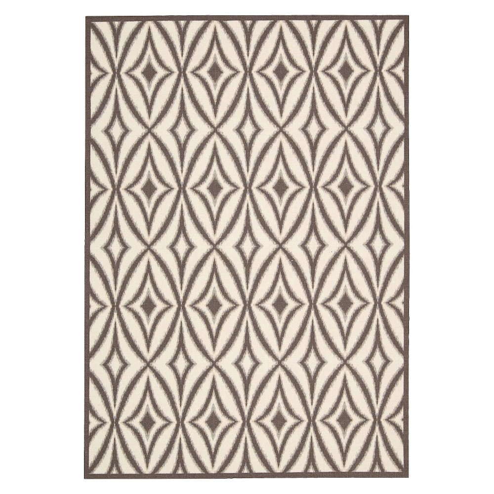 Waverly Tile Indoor/Outdoor Rug - Gray (10'x13')