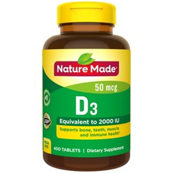 Nature Made Vitamin D3 Dietary Supplement Tablets