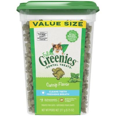 Greenies Feline Dental Catnip Flavor Cat Treats