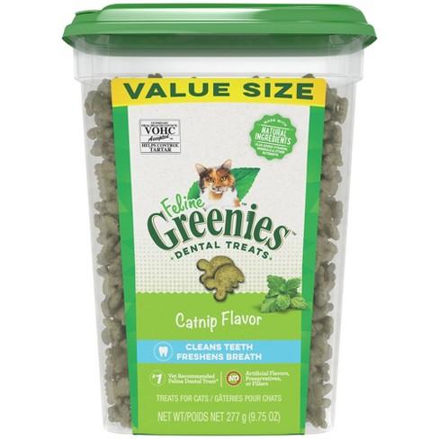 Greenies Feline Dental Tub Catnip Flavor Cat Treats - 9.75oz - image 1 of 4