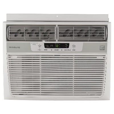 Frigidaire - 10000-BTU 115V Window-Mounted Compact Air Conditioner with Temperature Sensing Remote - White