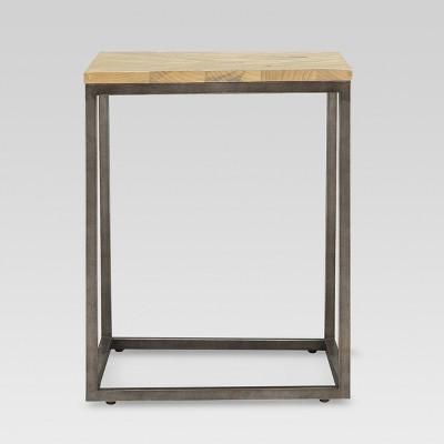 Metal and Wood End Table - Threshold™