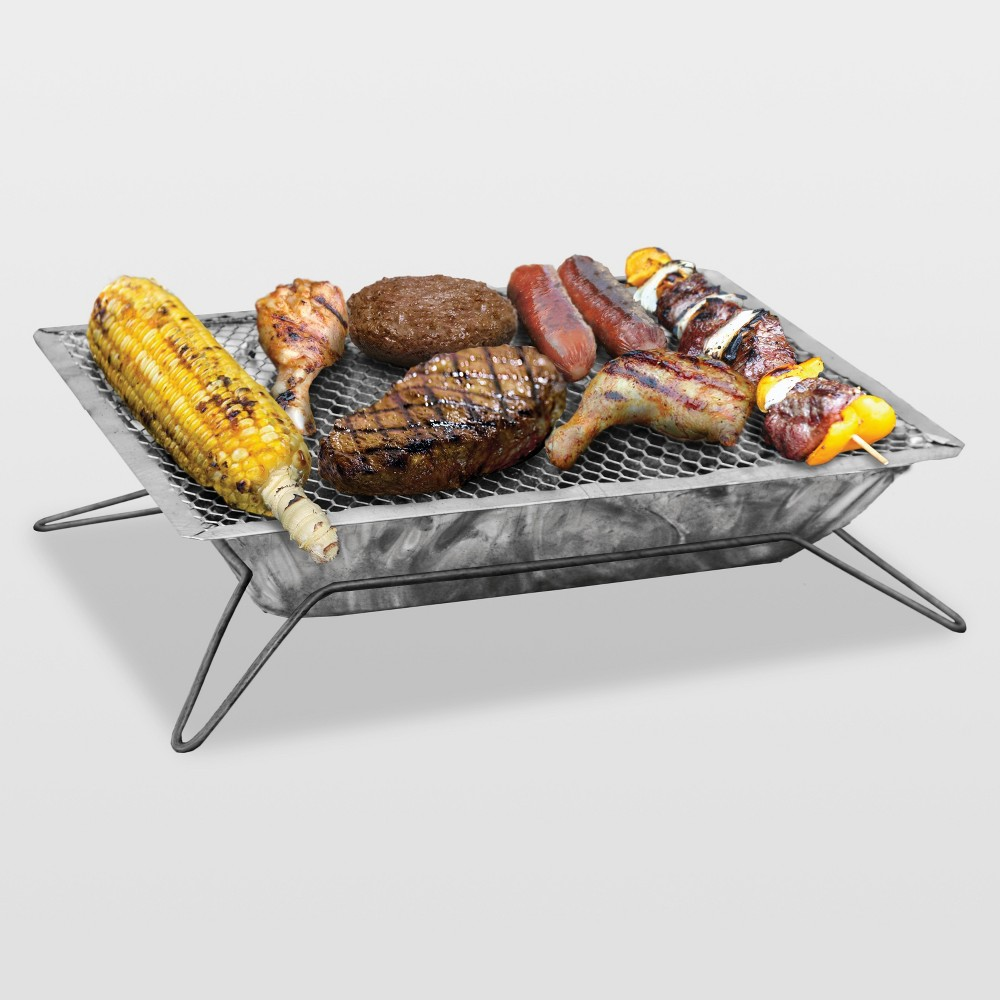 Image of Quick & Easy Steel Charcoal Grill 1000, Silver