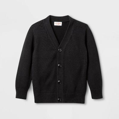 Toddler Boys' Uniform Button Cardigan - Cat & Jack™ Black