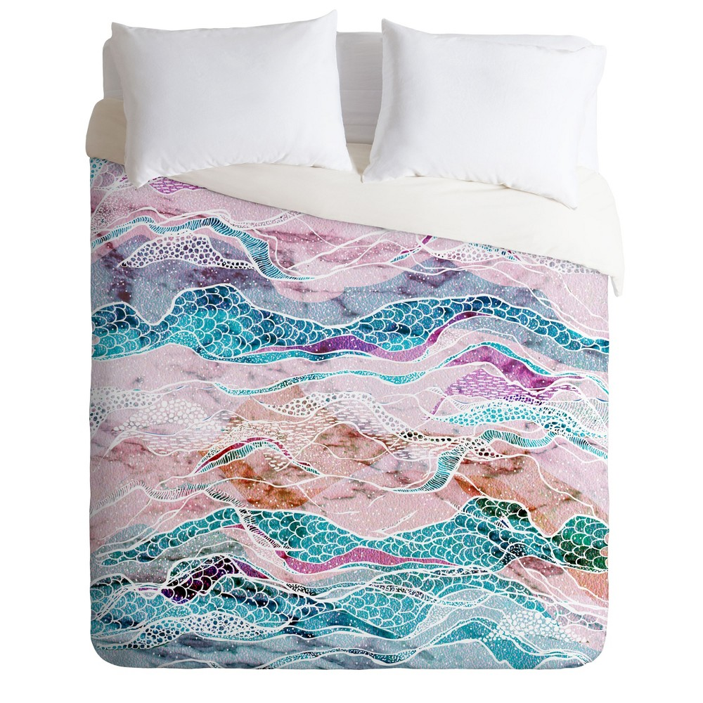 Full/Queen RosebudStudio Move Waves Duvet Cover Set - Deny Designs, Multicolored