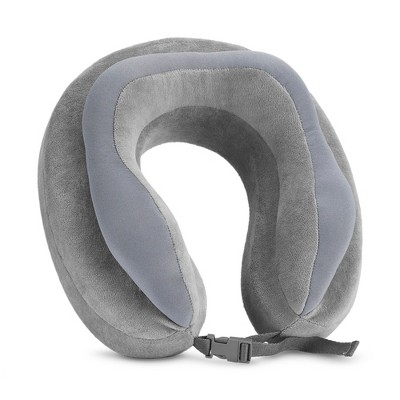 Travel Smart by Conair Memory Foam and Soft Beaded Neck Pillow - Gray