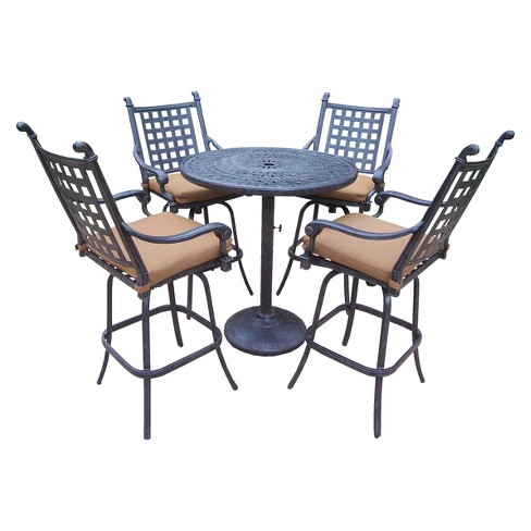 About this item - Rosemont 5-Piece Aluminum Balcony Height Patio Dining Furniture Set