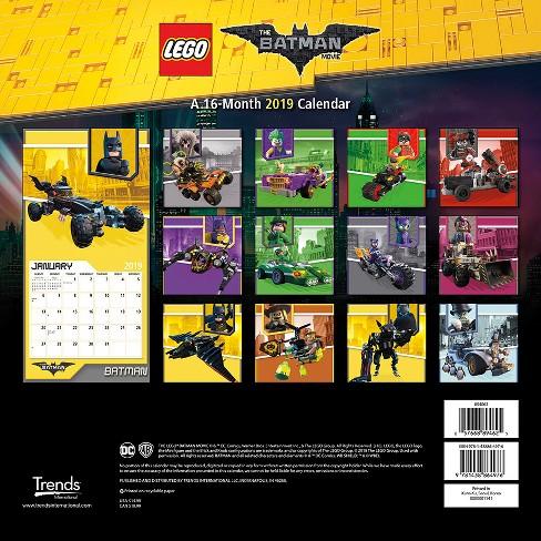 Movie Calendar 2019 2019 Wall Calendar Lego Batman Movie   Trends International : Target