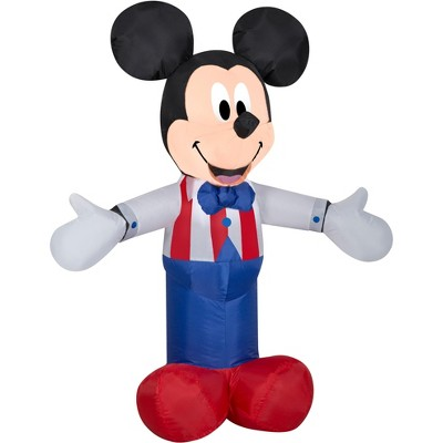 Gemmy Airblown Inflatable Patriotic Mickey Mouse, 3.5 ft Tall, white