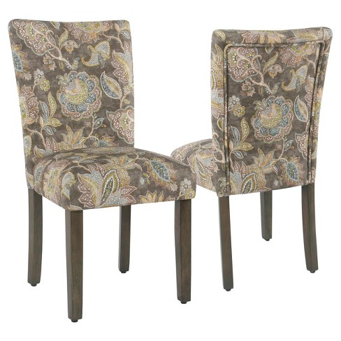 Set Of 2 Parsons Dining Chair Gray Homepop Target