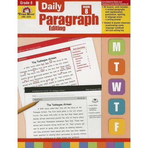EVAN-MOOR DAILY PARAGRAPH EDITING GR 6 Set of 3 Professional ...