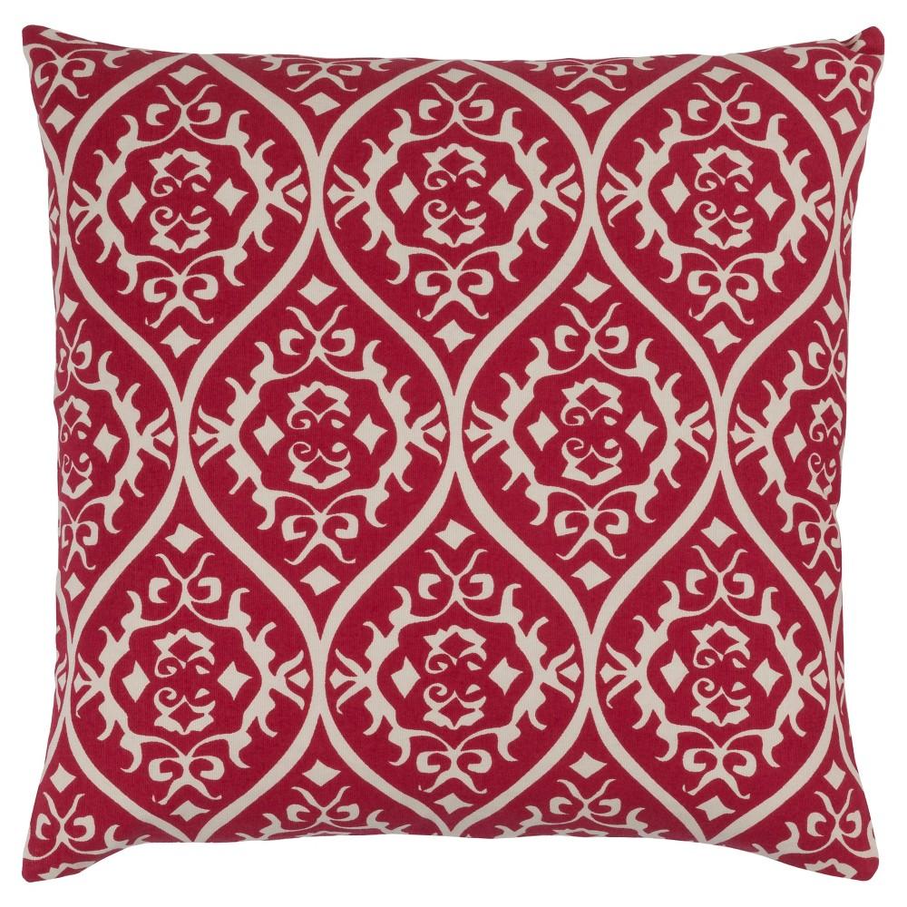 Red Ashcott Throw Pillow 20