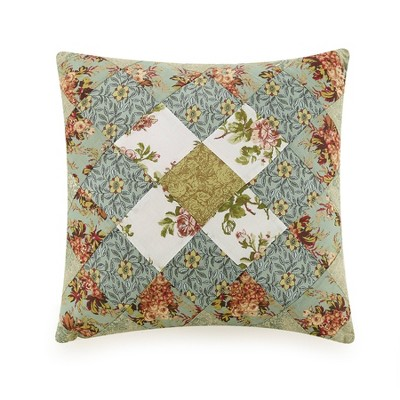 Patchwork Square Decorative Throw Pillow Olivia - Modern Heirloom