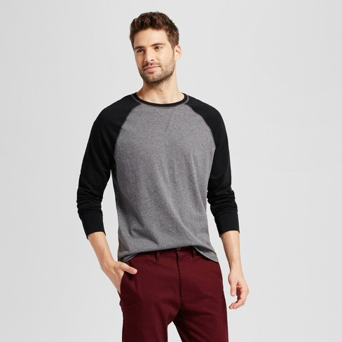 Men s Standard Fit Long Sleeve Raglan Color Block Crew T-Shirt - Goodfellow    Co™ 9351f004b73