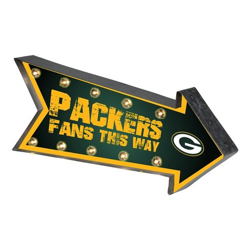NFL Green Bay Packers Arrow Light Up Marquee Sign - image 1 of 1