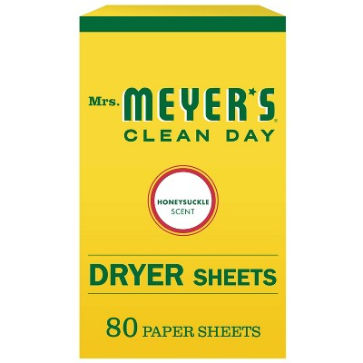 Mrs. Meyer's Clean Day Honeysuckle Scent Dryer Sheets - 80ct