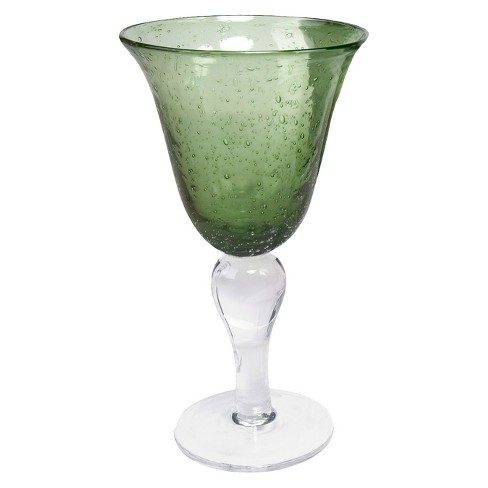 Artland Iris 18oz 4pk Glass Goblets Green - image 1 of 1