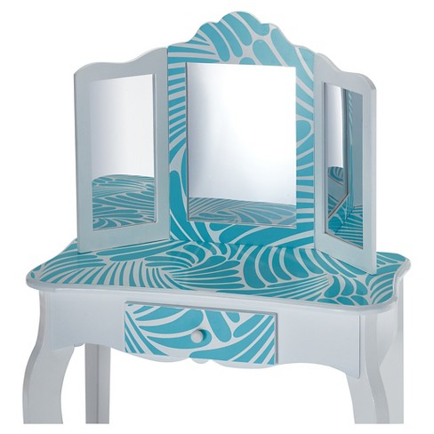 Fashion Prints Tropical Vanity Table   Stool Set - Teamson Kids   Target a136cea0a