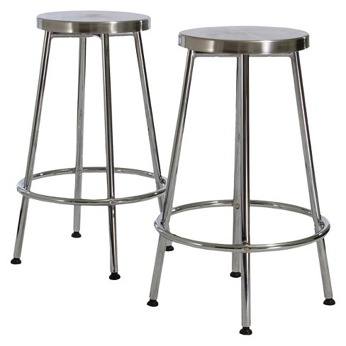 29 5 Mayworth Barstool Chrome Set Of 2 Christopher Knight Home