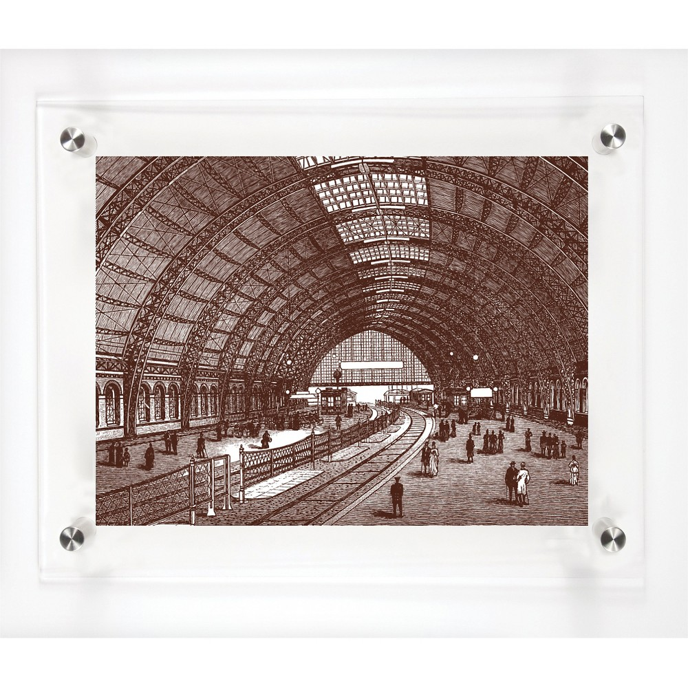 Mitchell Black Perspective Decorative Framed Wall Canvas Coffee (Brown) (12