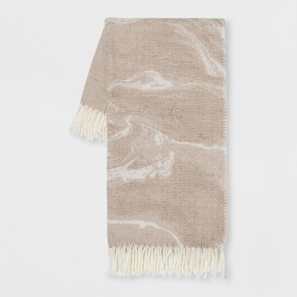 Marble Throw Blanket Neutral - Room Essentials, Brown