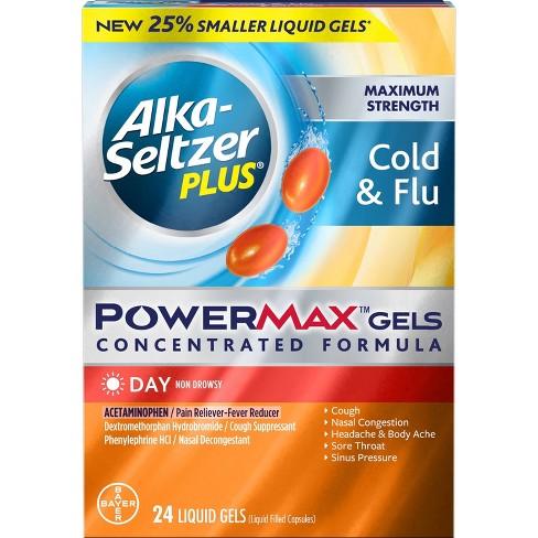 Alka-Seltzer Plus PowerMax Cold & Flu Relief Liquid Gels - 24ct - image 1 of 4