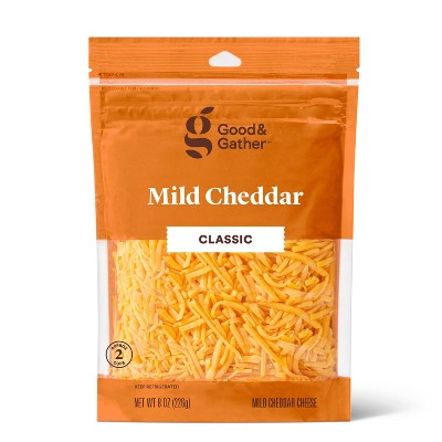 Shredded Mild Cheddar Cheese - 8oz - Good & Gather™
