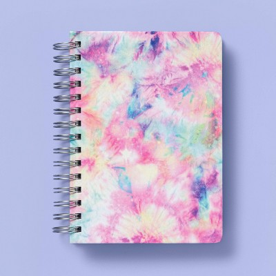 Spiral Notebook 1 Subject College Ruled Tie-Dye Patches - More Than Magic™