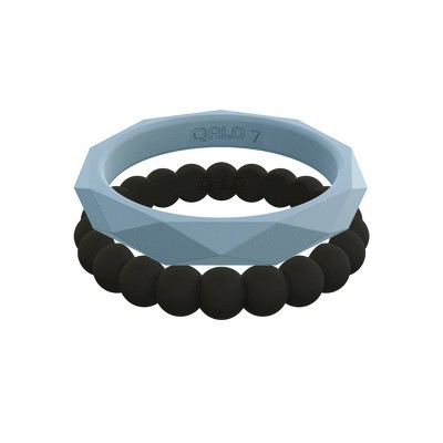 QALO Women's Stackable Silicone Ring Collection F Size 07