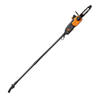 """Worx WG309 10"""" - 8 Amp 2-in-1 Chainsaw & Pole Saw with 10' Reach, Tool-Free Chain-Tensioning"""