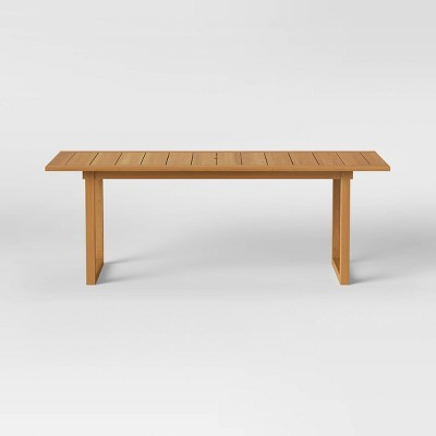 Bluffdale Wood 6 Person Rectangle Patio Dining Table - Threshold™ designed with Studio McGee