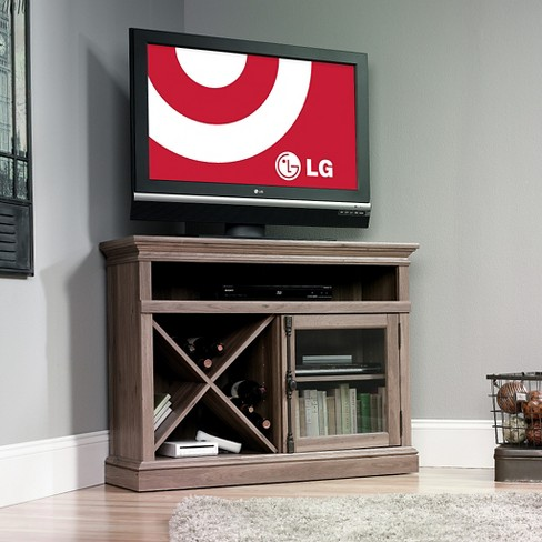"Barrister Lane Corner Entertainment Stand Salt Oak 43"" (Fits TV up to 42"") - Sauder - image 1 of 4"