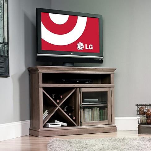 """Barrister Lane Corner Entertainment Stand Salt Oak 43"""" (Fits TV up to 42"""") - Sauder - image 1 of 4"""