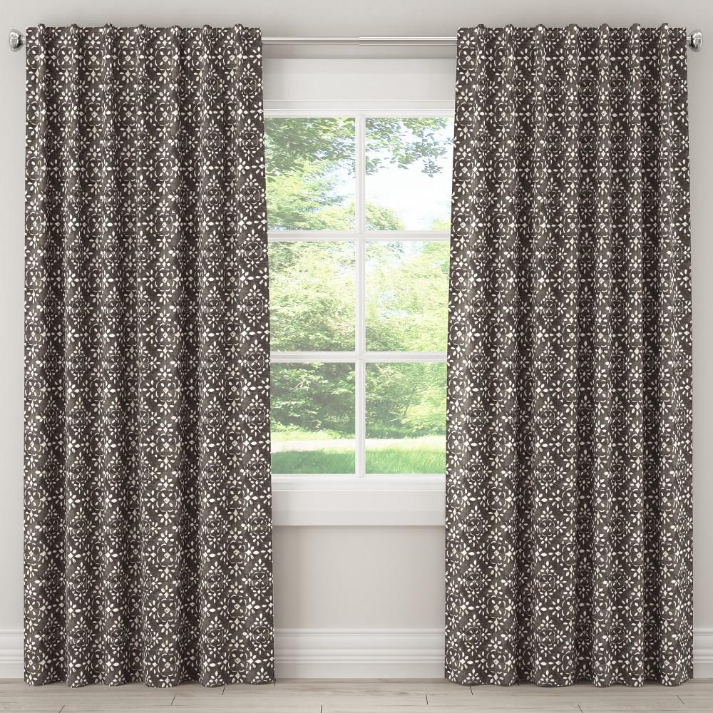 Unlined Curtain Avila Sable Slub 108L - Skyline Furniture, Gray