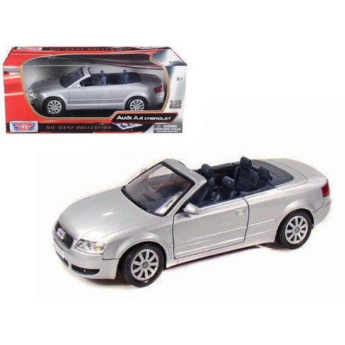 2004 Audi A4 Convertible Silver 1 18 Cast Model Car By Motormax Target