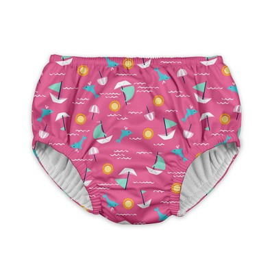 Baby Girls' Sailboats Reusable Swim Diaper - Pink 6M - i play.