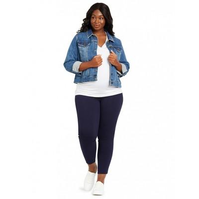 Motherhood Maternity | Plus Size The Maia Secret Fit Belly Rayon Skinny Maternity Ankle Pants