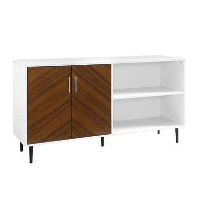 "Modern 2 Door Bookmatch TV Stand for TVs up to 65"" - Saracina Home"