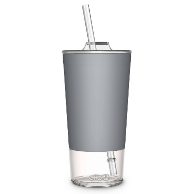 Ello Tidal 20oz Glass Tumbler with Lid - Gray