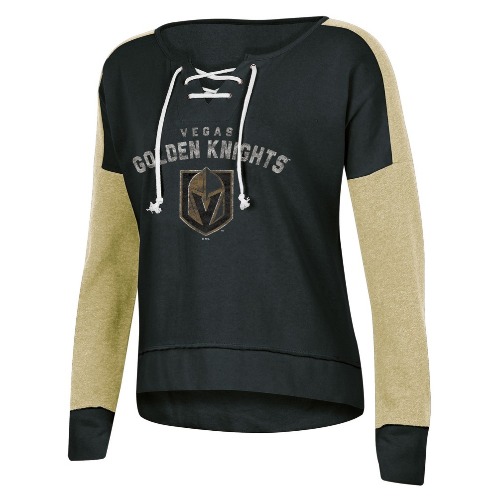 Vegas Golden Knights Women's Warming House Open Neck Fleece Sweatshirt XL, Multicolored