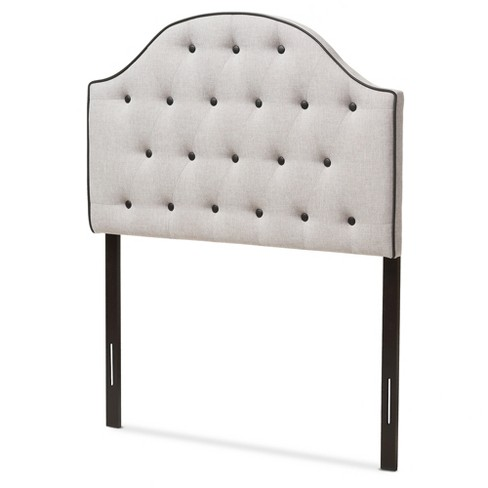 Windsor Modern And Contemporary Fabric Upholstered Scalloped Buttoned Headboard - Baxton Studio - image 1 of 5