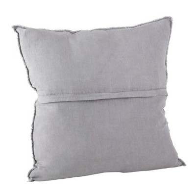 "20""x20"" Oversize Fringed Design Linen Square Throw Pillow - Saro Lifestyle : Target"